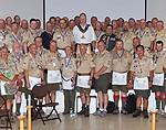 Attendees at a special Masonic meeting at 2010 Jamboree