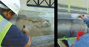 Contractor tests cleaning solutions