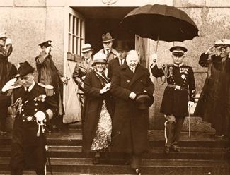 President Herbert Hoover participates in GWMNM dedication