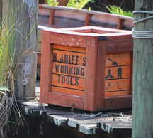 Prop crate from Disney World's Magic Kingdom in Florida