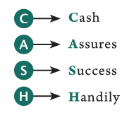 C A S H = Cash Assures Success Handily