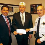 Honorable David R. Mayer, Ill. William H. Berman, 33°, and Gloucester Township Police Chief Harry Earle