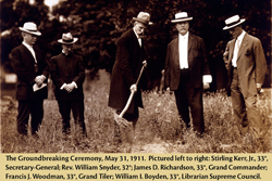 Groundbreaking for the House of the Temple, May 31, 1911