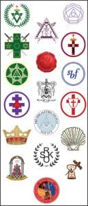 Logos of Various Masonic Week participants