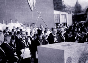 Laying the Cornerstone, October 18, 1911
