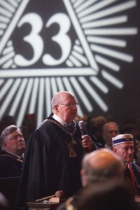 Lieutenant Grand Commander Curtis N. Lancaster, 33°, SGIG in Utah, performs the Ritual Opening of the Supreme Council, on Monday, August 22, 2011.