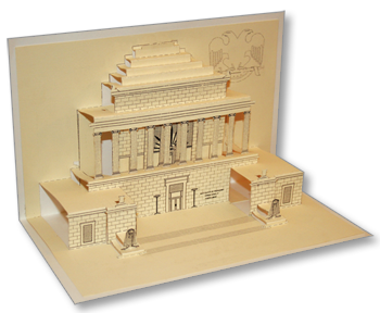 Completed pop-up House of the Temple