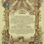 Resolution by the Grand Lodge of Maryland honoring Dr. Robert S. Zimmer, 32°