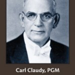 Carl Claudy, PGM, Grand Lodge, F.A.A.M. of the District of Columbia