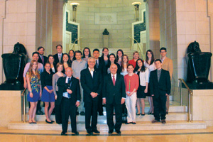 2012 GWU Scholarship recipients at the House of the Temple