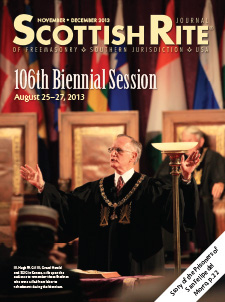 Cover of November-December 2013 Scottish Rite Journal
