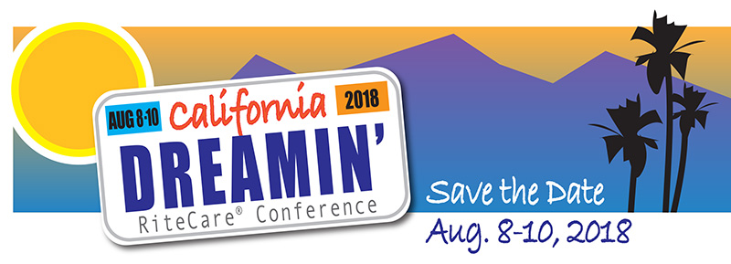 California Dreamin', 2018 RiteCare SRCLP Conference, Save the Date: August 8–10, 2018