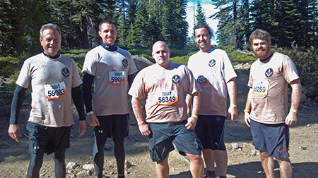 Here is the 2013 Scottish Rite Tough Mudder team, none the worse for wear after completing the grueling obstacle course. These Masons are all back again this year and are being joined by 8 additional brethren.