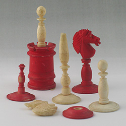 Pieces from Albert Pike's chess set