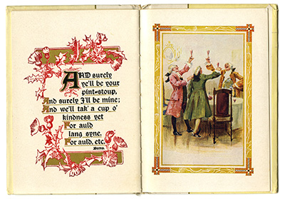 Interior pages from Burn's Auld Lang Syne