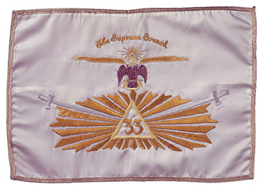 Cooper's Scottish Rite Banner that travelled into space on Gemini V