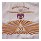 Thumbnail image of Cooper's Scottish Rite Banner that travelled into space on Gemini V