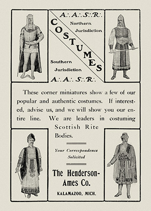 Advertisement for Scottish Rite costumes from December 1904 New Age magazine