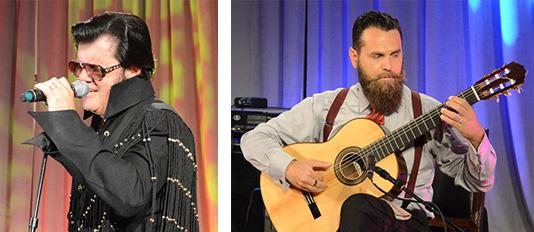 Elvis tribute artist Frank Raines and classical guitarist Flavio Apro