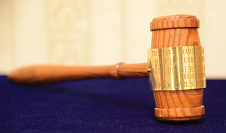 Gavel made of wood from the White House