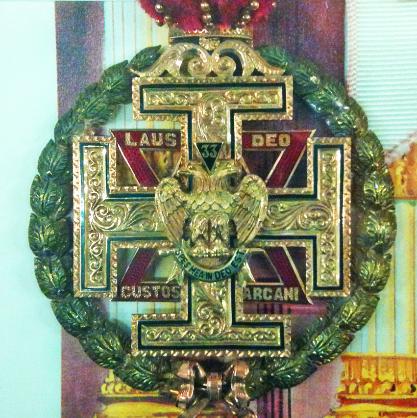 Custom 33rd Degree jewel from the collection in the Library of the Supreme Council, 33°, SJ, USA