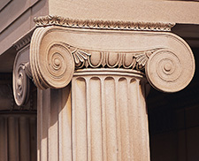 Detail of an Ionic Column from the House of the Temple (© Maxwell MacKenzie, Washington, DC)