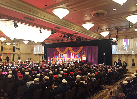 Crowd shot from Monday's Opening of the 2015 Biennial Session