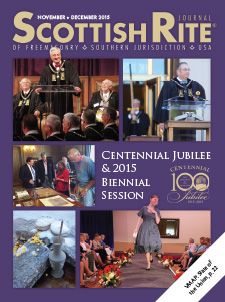 Cover of the November-December 2015 Scottish Rite Journal