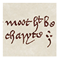 Thumbnail image of a facsimile depicting the closing couplet of The Regius Poem