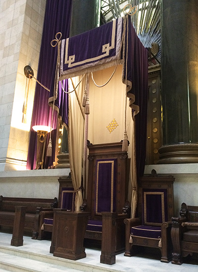 Sovereign Grand Commander's Chair in the Temple Room at the House of the Temple in Washington, DC