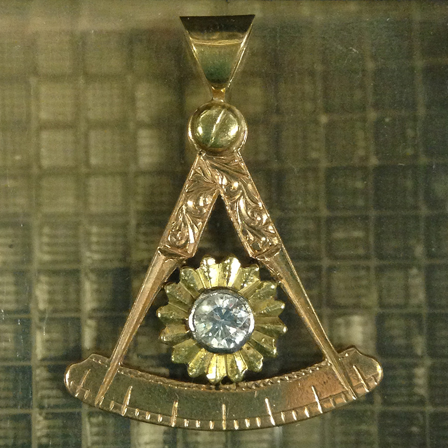 One of the many Past Master and Past Grand Master jewels in the House of the Temple's collection
