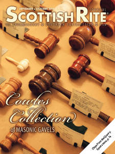 The cover of the September-October 2016 Scottish Rite Journal features gavels from the Cowles Collection at the House of the Temple.