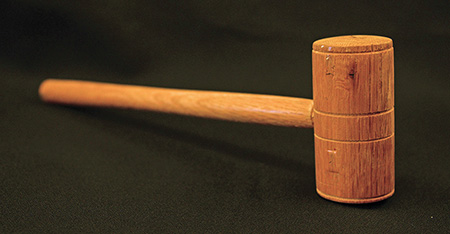 Gavel in the Cowles Collection made from the wood of Shepheard's Tavern