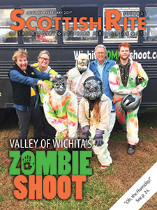 Valley of Wichita's Zombie Shoot - Cover of the January-February 2017 Scottish Rite Journal