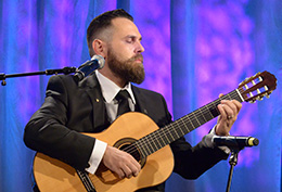 2016 Scottish Rite Has Talent finalist and Brother Flavio Apro, 32°, performs classical guitar during the Celebrating the Craft