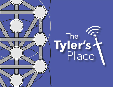 A detail of the Kabbalistic tree of life & the Tyler's Place podcast logo