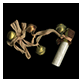 Thumbnail image of salt vial with ribbon and four bells