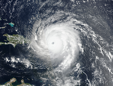 NASA Satellite Image of Hurricane Irma