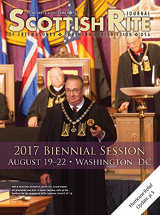 MW & Illustrious Michael D. Smith, 33°, Grand Master of Ceremonies and SGIG in South Carolina, calls up the brethren for the recessional of the Supreme Council, 33°, SJ.