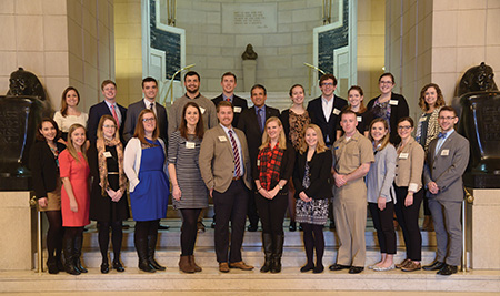 Every year, the Supreme Council, 33°, invites students, faculty, and staff, from The George Washington University in Washington, DC, to the House of the Temple for a special luncheon and tour to recognize those students who have benefited from Scottish Rite scholarships.