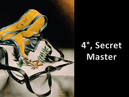 4°, Secret Master, title slide from the Master Craftsman Group Studies USB