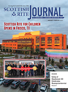 Scottish Rite for Children Opens in Frisco, TX – Photograph of Scottish Rite center and group image from grand opening event