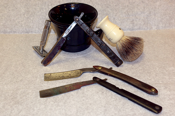 Three Masonic straight razors from the House of the Temple Library & Museum's collection