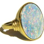 An opal ring from the House of the Temple Library & Museum's collection