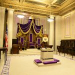 A view of the Executive Chamber at the House of the Temple in Washington, DC
