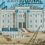 May-June 2020 Scottish Rite Journal Cover - Building Solomon's Temple - Glass stereopticon slide, depicting the building of King Solomon's Temple