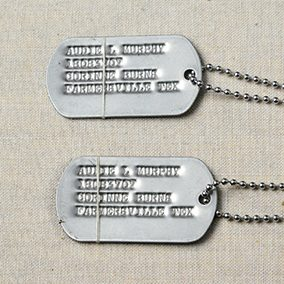Audie Murphy's US Army Dog Tags