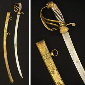 Light Calvary Sword Presented to Albert Pike by Benjamin B. French