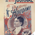 "Promotional poster touting Harry Houdini as the ""King of Cards"""