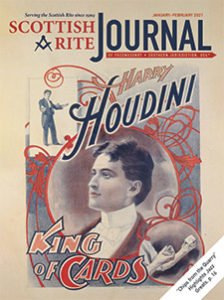 """Promotional poster touting Harry Houdini as the """"King of Cards"""""""